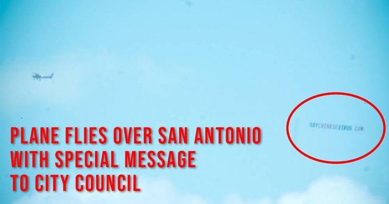 WATCH: Plane Flies Banner Defying San Antonio Hate Speech Resolution