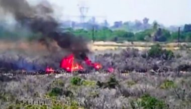 Watch: Arsonists Cross Border to Set Fires, Escape Back to Mexico