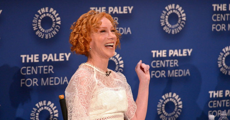 Kathy Griffin Suggests Trump Inject Syringe Full of Air