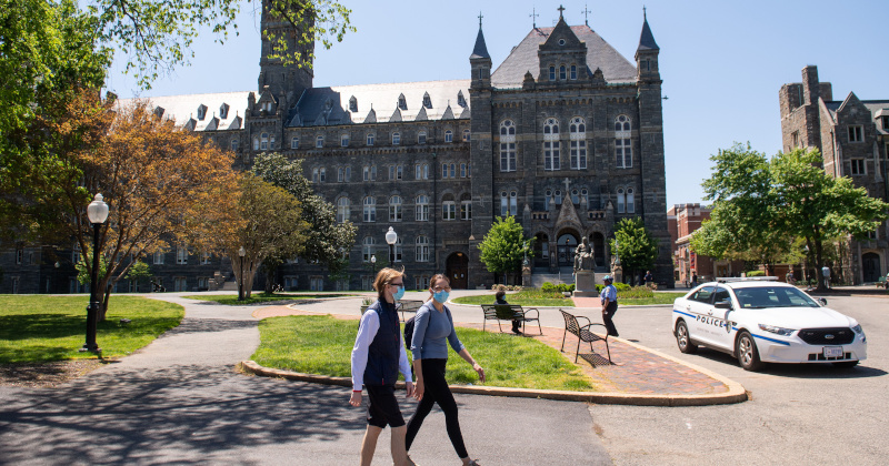 Georgetown Gives Raises After Getting Millions in Coronavirus Aid