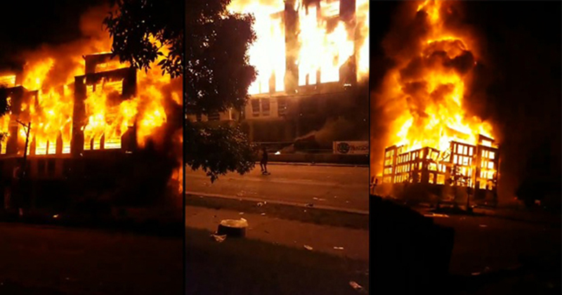 Minneapolis BLM Riot: Housing Complex Under Construction Burned to The Ground