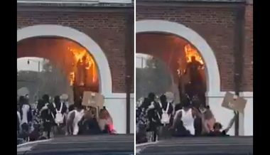 WATCH: BLM Rioter Sets Himself On Fire While Trying to Light Historic Building Ablaze