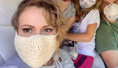 Alyssa Milano goes on defensive after showing off her KNITTED mask (that does NOTHING to stop Covid-19)