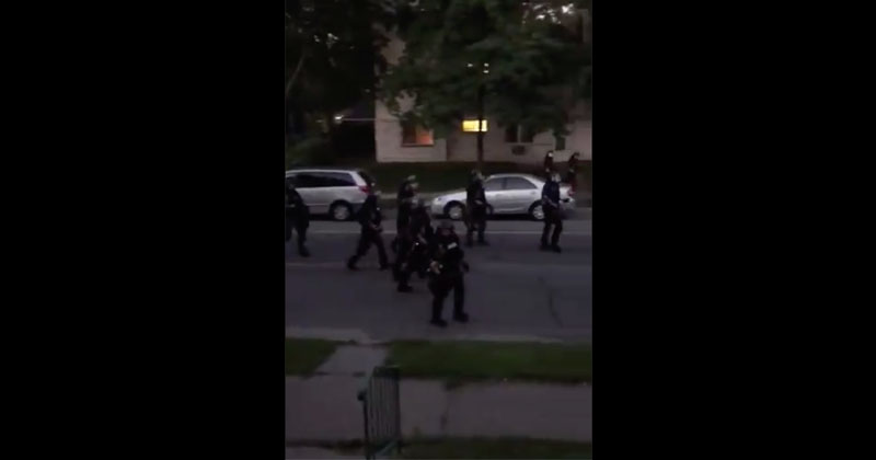 'Light Em Up!' WATCH National Guard Patrol Minneapolis Suburb & Shoot Paint at People On Their OWN FRONT PORCHES
