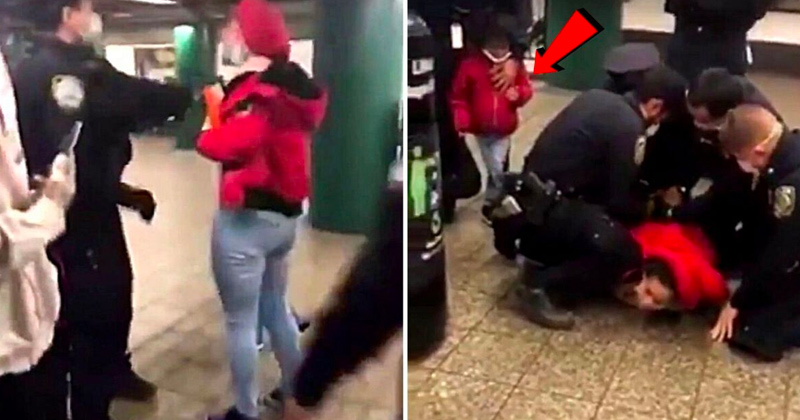 Video: NYPD Assaults Mom in Front of Child for Wearing Mask Improperly