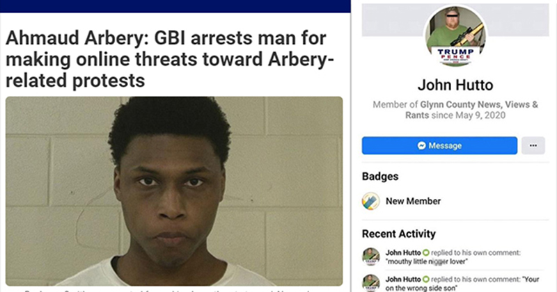 HATE HOAX: Black Man 'Created Fake Profile' Of White Trump Supporter to Issue Threats Against Pro-Arbery Protesters