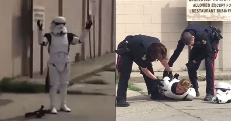 Video: Cops Arrest 'Stormtrooper' Over Plastic Blaster Rifle Toy