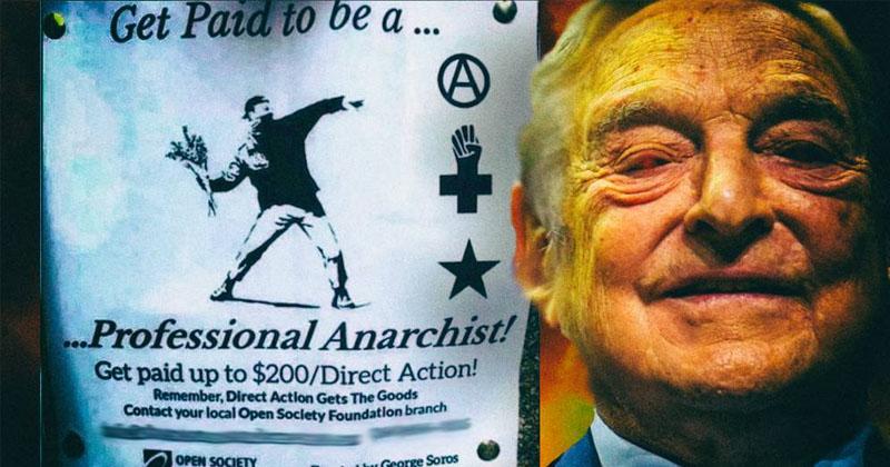The Soros Army Burns Down America