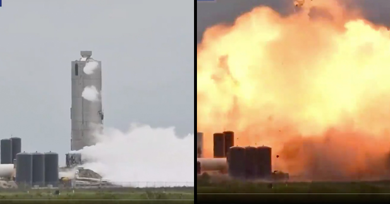 SpaceX Starship SN4 prototype explodes after engine test in Texas (VIDEO)