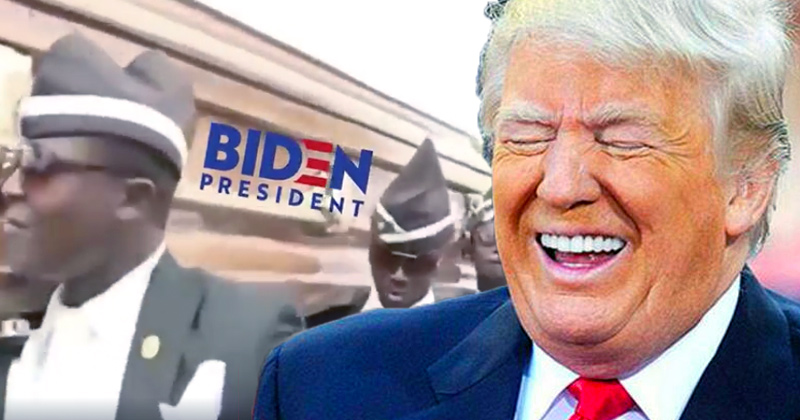 Stick a Fork in It: Trump Celebrates Implosion of Biden Campaign with Coffin Dance Meme
