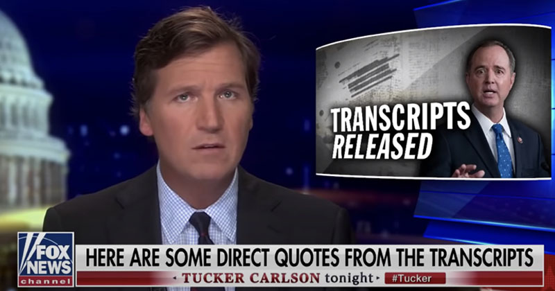 Tucker Carlson Calls For 'Sociopath' Adam Schiff To Resign For Knowingly Lying To Americans For Years