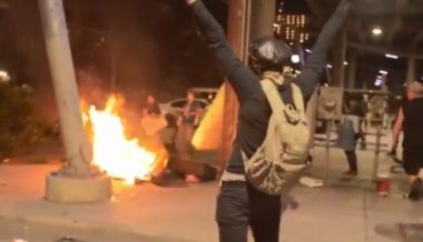 Antifa Rioters Set Homeless Veteran's Mattress on Fire, Leftists Blame Infowars Crew Who Filmed It