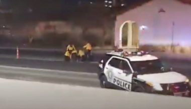 Las Vegas Cop on Life Support After Being Shot in the Head by Rioter
