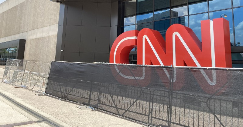 CNN 'Builds a Wall' to Protect Itself From Violent Protests