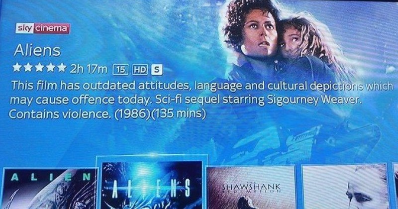 Sky Tags Numerous Movies With Political Correctness Trigger Warning