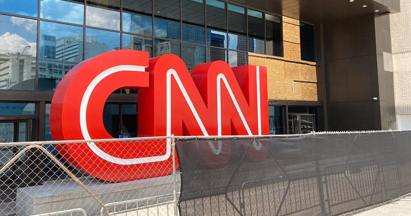 CNN Channels Trump, Builds Wall Around Atlanta HQ Following Riots