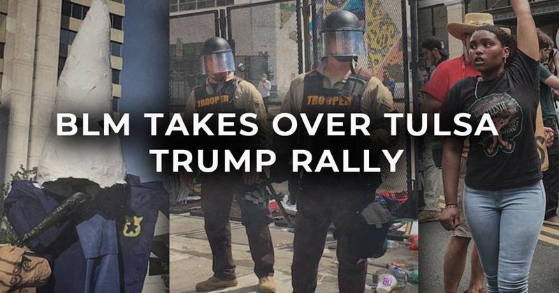 BLM Takes Over Tulsa Trump Rally