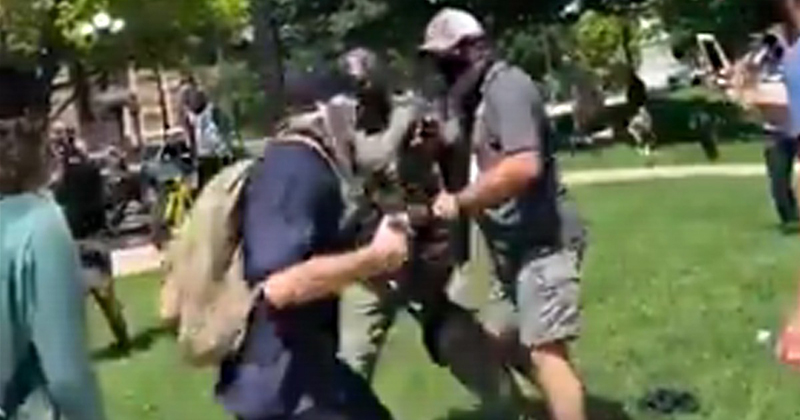 VIDEO: White Leftists Physically Attack, Berate Black Cop With Racial Slurs at #BLM Demonstration