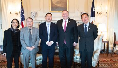 Pompeo Trolls China By Posing With 'Dissident' Tiananmen Survivors