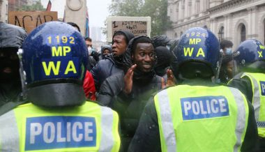 London: Ten police officers are hurt in clashes at Black Lives Matter protest