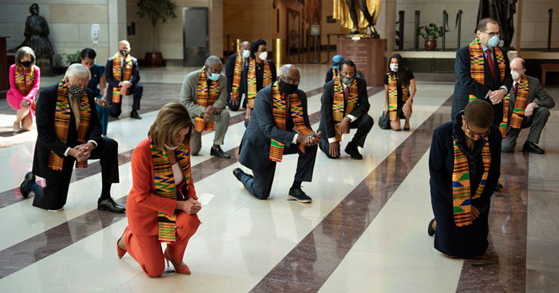 Blacklash: Anger At Democrats For Cringe Kneeling In African Garb