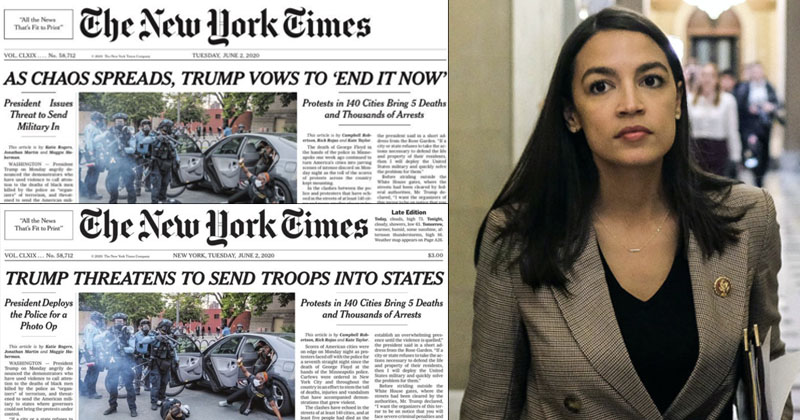 NYT Changes Trump Headline After Caving To Democrat Backlash -- Again