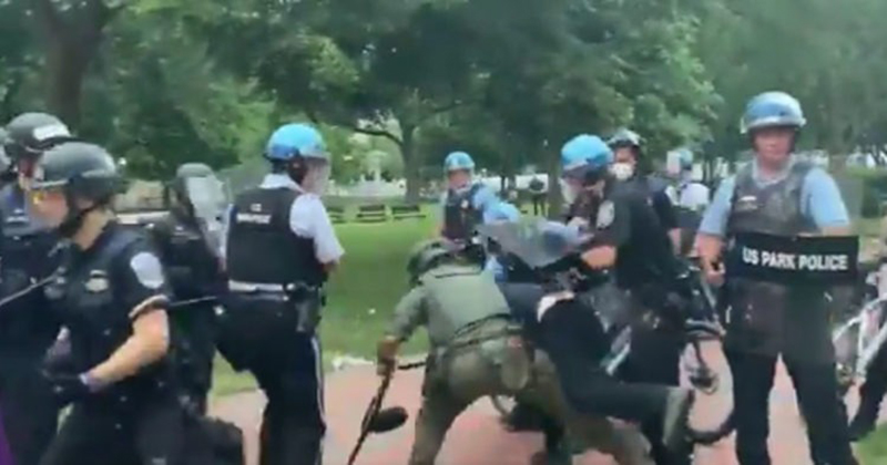 VIDEO: D.C. Police Save Statue Of Andrew Jackson, Repel And Arrest BLM Rioters