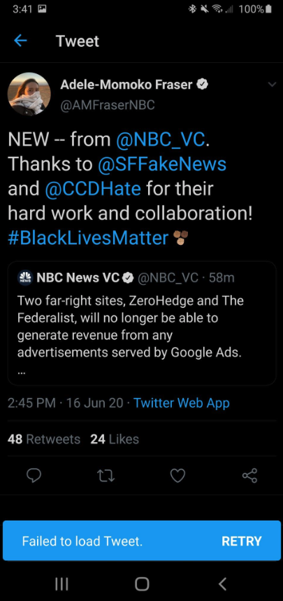 ZeroHedge & The Federalist Banned From Google Ads After NBC Tattles