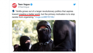 "Teen Vogue Tells Readers ""ANTIFA Aspires Toward Creating A Better World"""