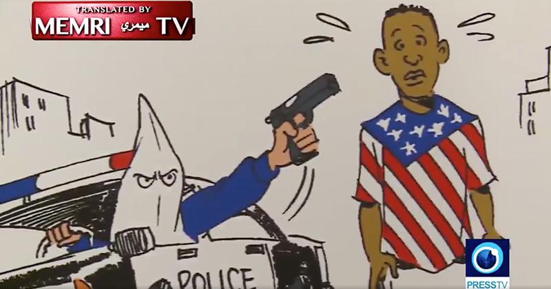 Iran Holds 'Art' Exhibition Depicting US Police As Nazis, KKK