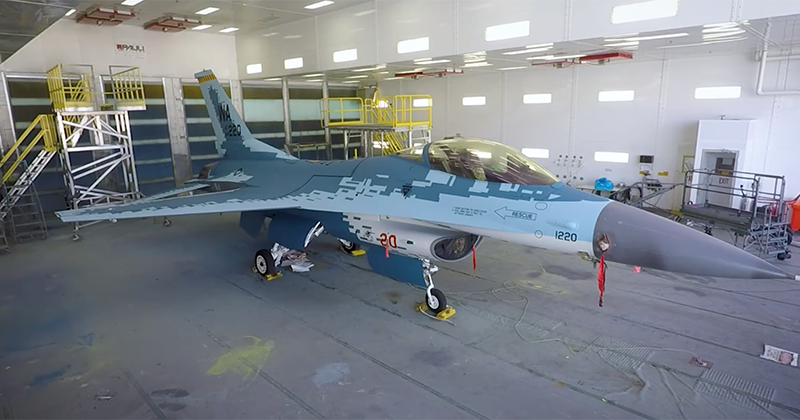 USAF Paints Fighter Jet Russian Color Scheme To Prepare For Dogfights