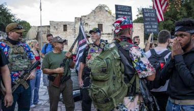 Armed Texans Defend Alamo Monument Amid Civil Unrest
