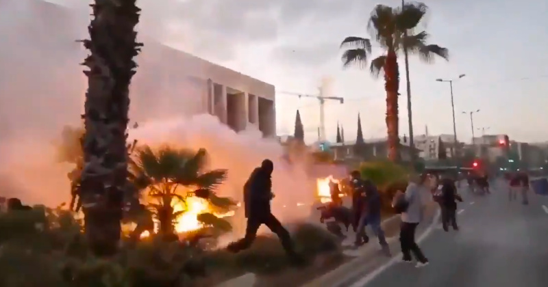 Firebombers Attack US Embassy In Athens as BLM-Antifa Riots Go Global