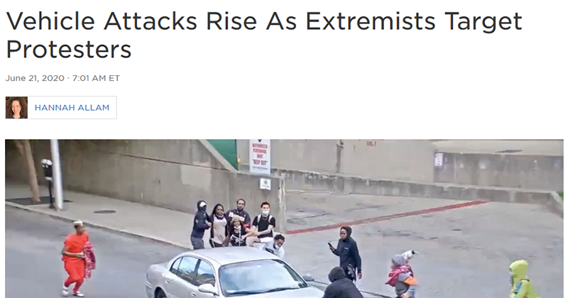 NPR Busted Framing Self-Defense Getaway From Gun-Toting 'Protesters' As Right-Wing Extremist Attack