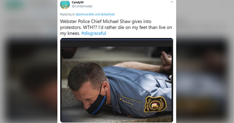 Video: Massachusetts Police Chief Lies Face Down At Urging of BLM Protesters