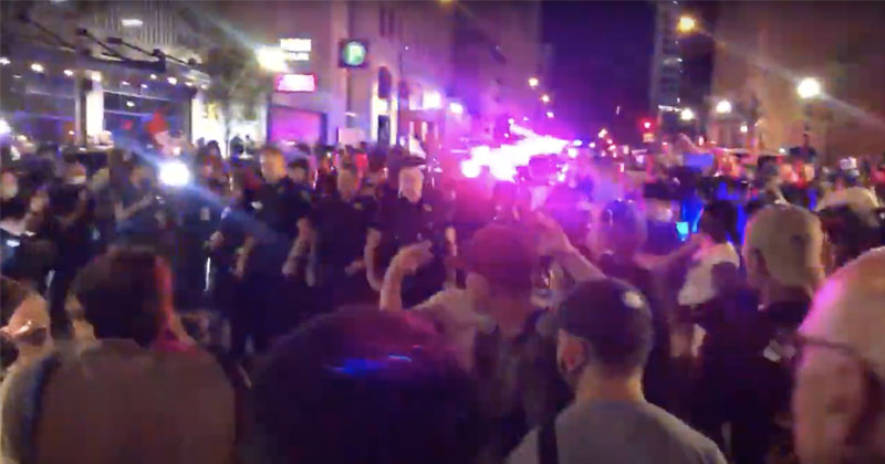 'I'll Beat Your Ass!' BLM Activists Threaten Trump Supporters in Tulsa As Police Fire Pepper Balls at Protesters