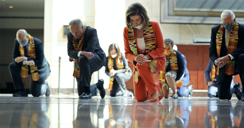 Cringe: Top Democrats Take Knee in Congress As Tribute To George Floyd