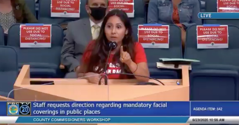 "Video - Woman Blasts County Lawmakers ""Obeying Devil's Law"" with Face Mask Order: ""Every single one of you going to get punished by God."""
