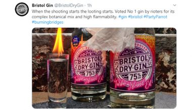 Distillery Touts Gin 'Voted No. 1 By Rioters' For 'High Flammability'
