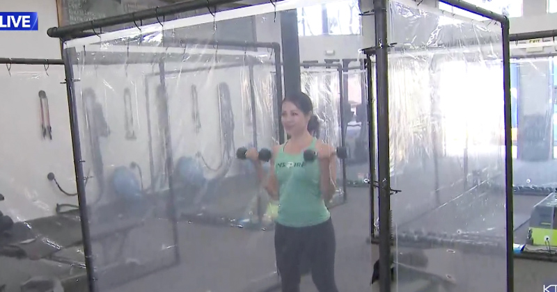 Everyone Gets A Coronavirus Pod at California Gym