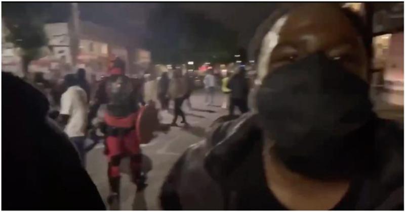 VIDEO: 'Superheroes' Handling CHOP Law Enforcement Flee Murder Scene