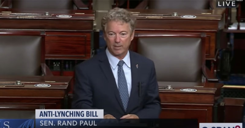 Sen. Rand Paul: Slapping Someone Could Get You 10 Years In Prison Under Federal 'Anti-Lynching' Bill
