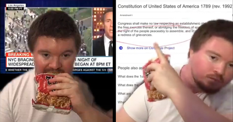 Watch: Lovable Redneck Goes Viral After Destroying Cuomo on Constitutionality of Riots