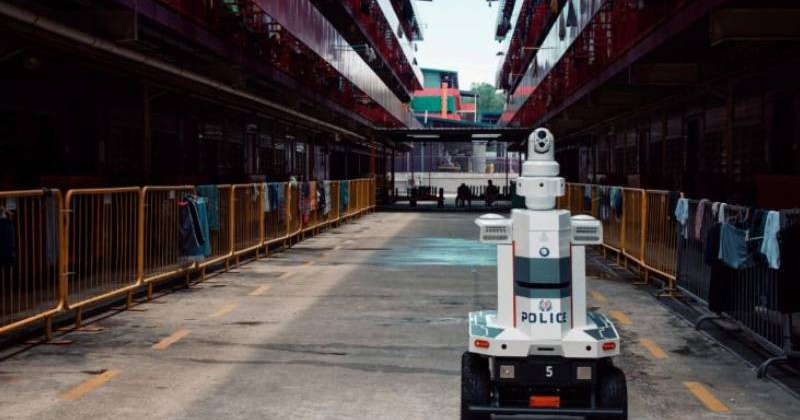 Singapore Deploys Robots at Migrant Worker Dormitory to Enforce Social Distancing