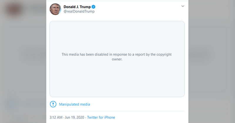 Twitter pulls Trump's 'manipulated' CNN parody video after media outcry, citing copyright violation
