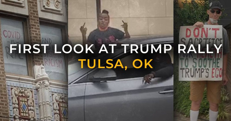 Watch: BLM Clashes With Trump Supporters Ahead of Tulsa Rally