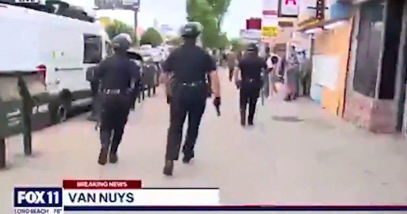 Watch: Police Detain Shopkeepers While Looters Escape