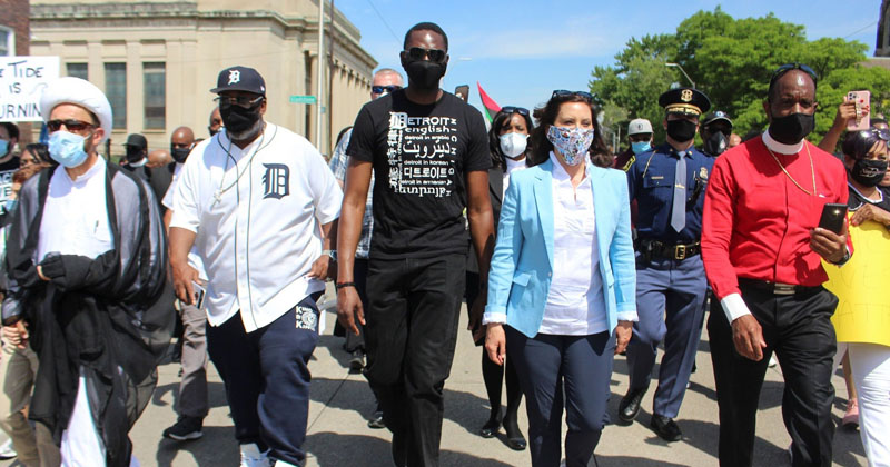Hypocrisy: Governor Whitmer Keeps Businesses in Lockdown — But Joins Leftists To Protest In The Streets