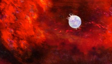 Possible sign of neutron star in supernova 1987A