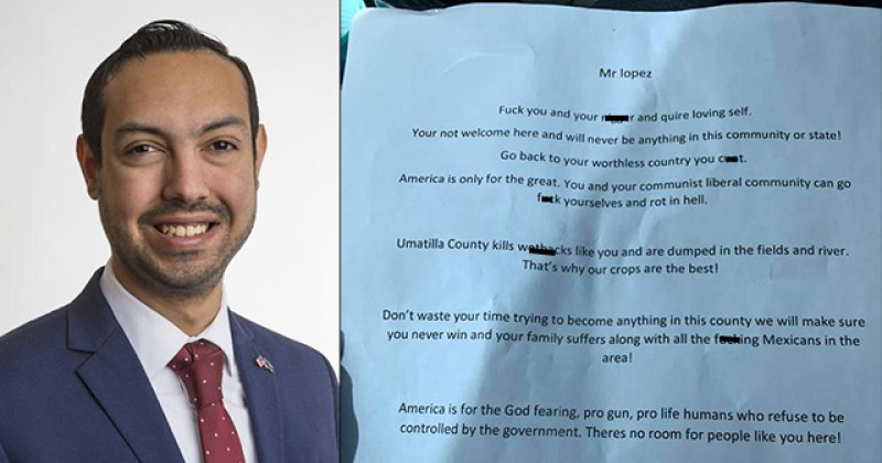 HATE HOAX: Oregon Politician Admits He Wrote Racist Letter to Himself